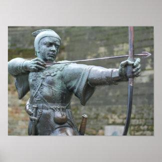 Robin Hood Statue Nottingham Poster