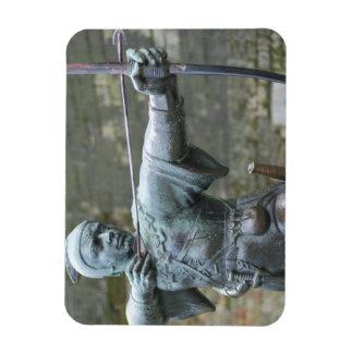 Robin Hood Statue, Nottingham Rectangular Photo Magnet