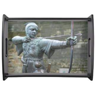 Robin Hood Statue Nottingham Serving Tray