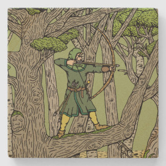 Robin Hood Stone Coaster