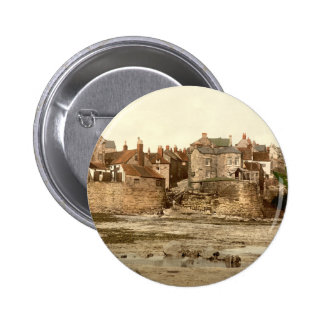 Robin Hood's Bay II, Whitby, Yorkshire, England 6 Cm Round Badge