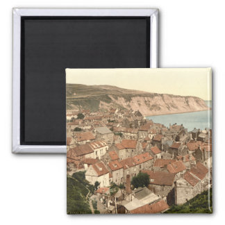 Robin Hood's Bay, Whitby, Yorkshire, England Square Magnet