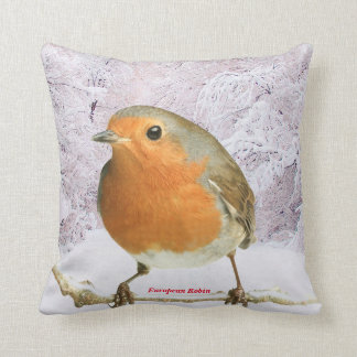 Robin image for Polyester Throw Pillow