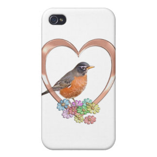 Robin in Heart Cases For iPhone 4