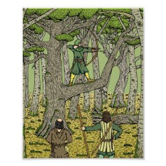 Robin in Sherwood Print Art Photo
