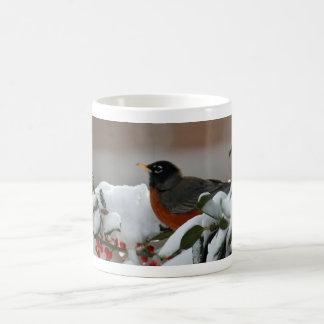Robin in Snow Mug