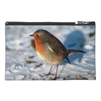 Robin In The Snow Travel Accessory Bags