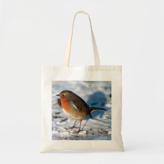 Robin in the Snow Budget Tote Bag