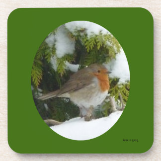 Robin in the Snow - Coasters