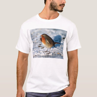 Robin in the Snow T-Shirt