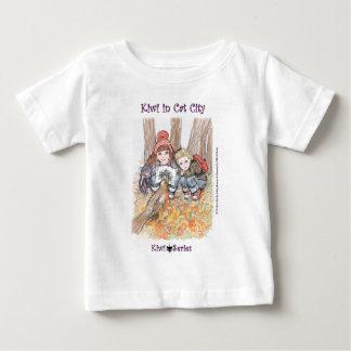 Robin, Kiwi cat and kids (Kiwi Series) Baby T-Shirt