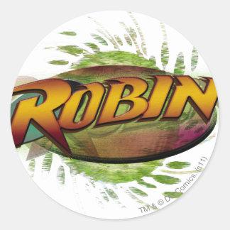 Robin Logo Classic Round Sticker