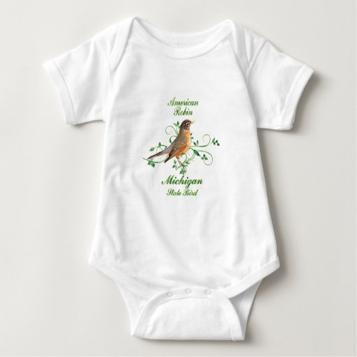 Robin Michigan State Bird T-shirt