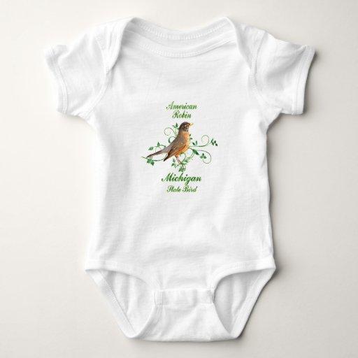 Robin Michigan State Bird Tshirts