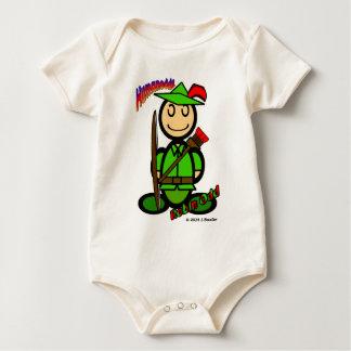 Robin Odd (with logos) Baby Bodysuit