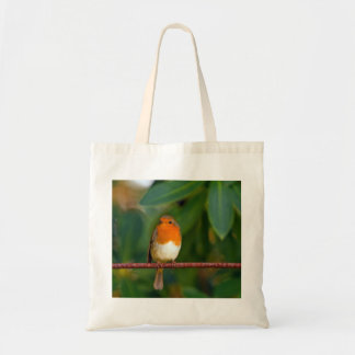 Robin on a Branch Tote Bag