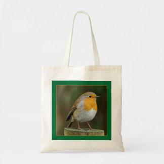 Robin on a Post Bag
