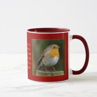 Robin on Post Mug