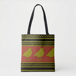 Robin or Bird print Tote Bag