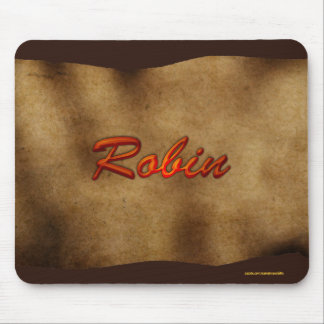ROBIN Personalised Parchment-effect Mousemat