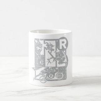 Robin - Picto Grey Basic White Mug