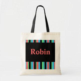 Robin Pretty Striped Tote Bag