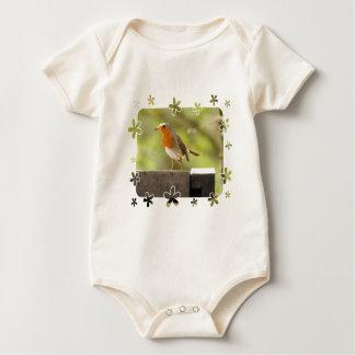 Robin red-breast baby bodysuit
