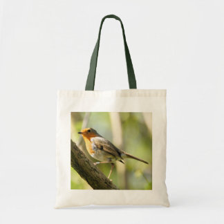Robin red breast bird canvas bags