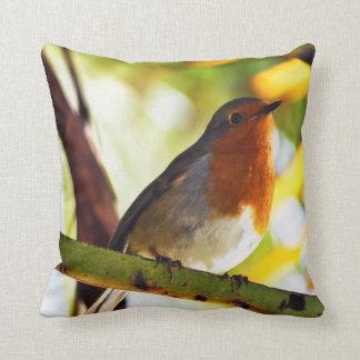 Robin red breast bird cushion