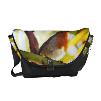 Robin red breast bird courier bag