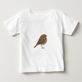 Robin Red Breast Bird Watercolor Painting Artwork Baby T-Shirt