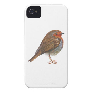 Robin Red Breast Bird Watercolor Painting Artwork iPhone 4 Covers