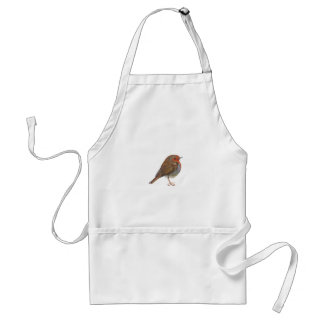 Robin Red Breast Bird Watercolor Painting Artwork Standard Apron