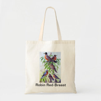 Robin Red Breast Budget Tote Bag