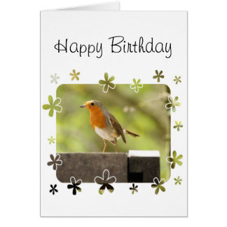 Robin red-breast card