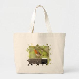 Robin red-breast jumbo tote bag