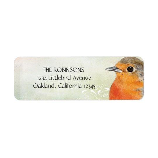 Robin Red Breast Return Address Labels