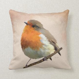 Robin Red Cushion