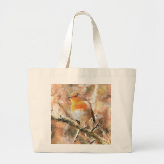 Robin Redbreast Canvas Bags