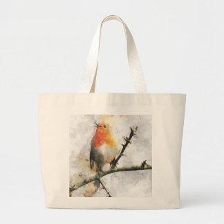 Robin Redbreast Canvas Bag