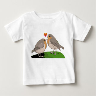 Robin redbreast bird love baby T-Shirt