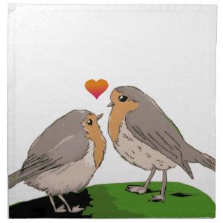 Robin redbreast bird love napkin