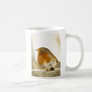 Robin Redbreast bird photo mug 1 legged braveheart