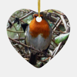Robin redbreast christmas ornament