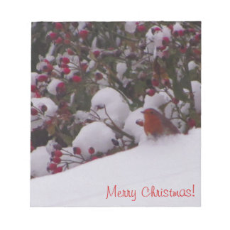 Robin Redbreast in the Snow Notepad