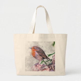 Robin Redbreast Large Tote Bag