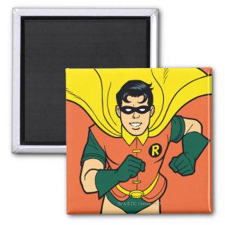 Robin Running Square Magnet
