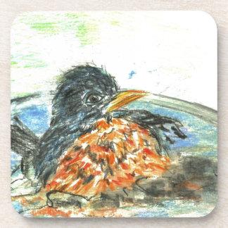 Robin s Bird Bath Drink Coaster