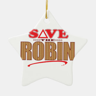 Robin Save Christmas Ornament