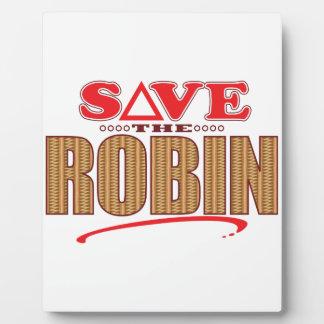 Robin Save Display Plaque